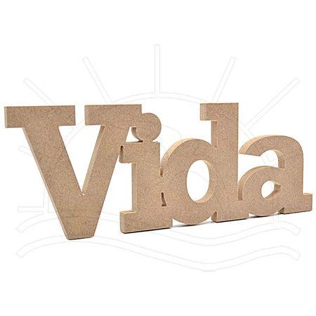 MDF Palavra - Vida 41x16x2