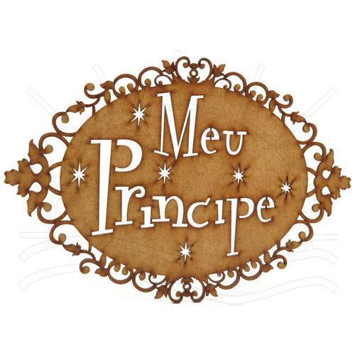 Mdf - Placa Meu Príncipe 33x1x23