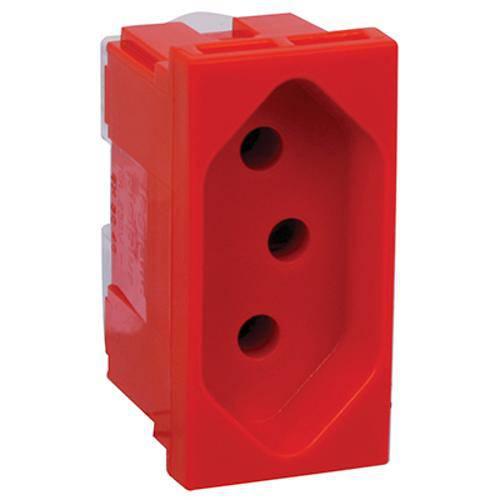 Mecanismo Tomada 2P+T Vermelha 20A/250V~ Pialplus Pial Legrand 615079