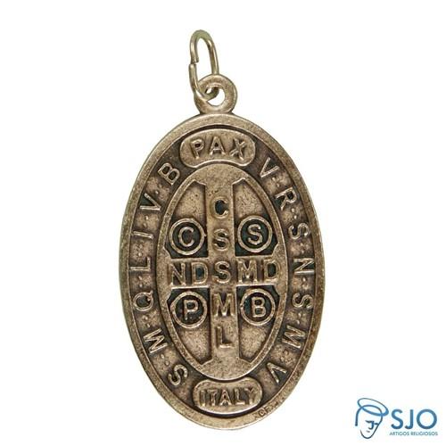Medalha Alto Relevo São Bento   SJO Artigos Religiosos