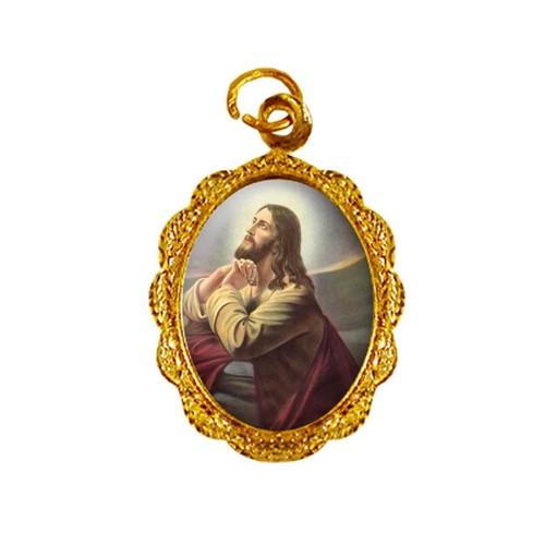 Medalha de Alumínio - Jesus Orando - Mod. 1 | SJO Artigos Religiosos