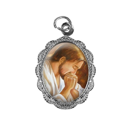 Medalha de Alumínio - Jesus Orando - Mod. 2 | SJO Artigos Religiosos