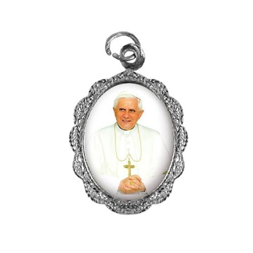 Medalha de Alumínio - Papa Bento XVI - Mod. 1   SJO Artigos Religiosos