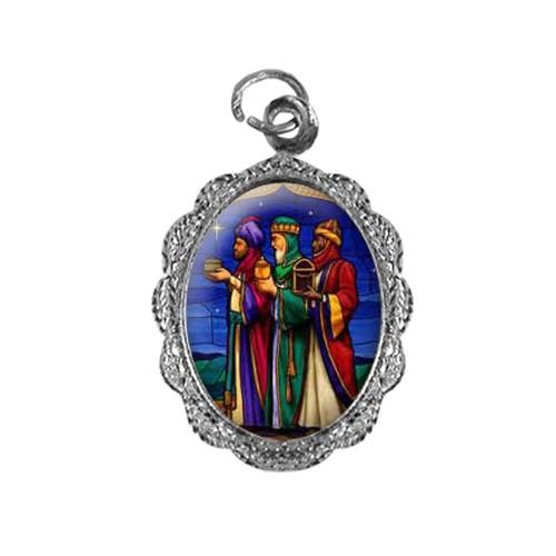 Medalha de Alumínio - Três Reis Magos - Mod. 02 | SJO Artigos Religiosos