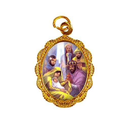 Medalha de Alumínio - Três Reis Magos - Mod. 01 | SJO Artigos Religiosos