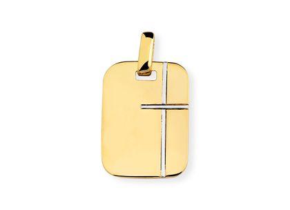 Medalha de Cruz Ouro Amarelo