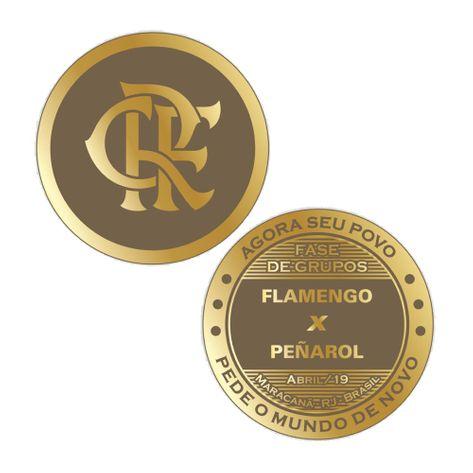 Medalha Moeda Flamengo X Peñarol UN