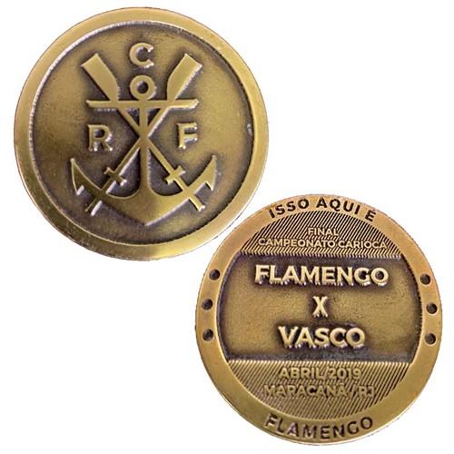 Medalha Moeda Flamengo X Vasco 2019 UN