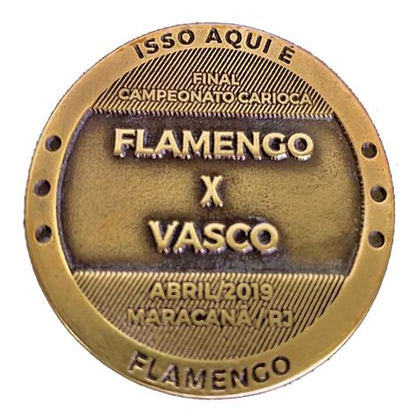 Medalha Moeda Flamengo X Vasco UN