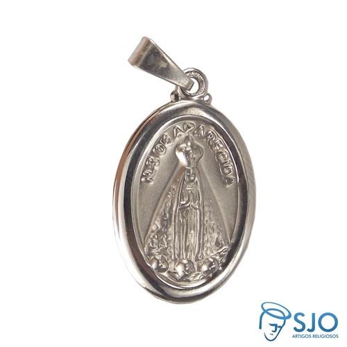 Medalha Oval de Inox Nossa Senhora Aparecida   SJO Artigos Religiosos