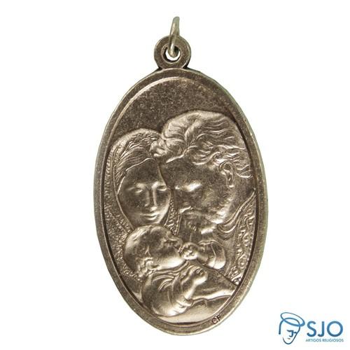 Medalha Oval Sagrada Família | SJO Artigos Religiosos