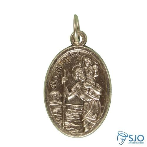 Medalha Oval São Cristóvão   SJO Artigos Religiosos