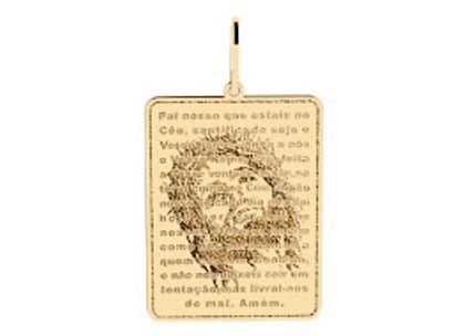 Medalha Pai Nosso com Jesus Ouro Amarelo