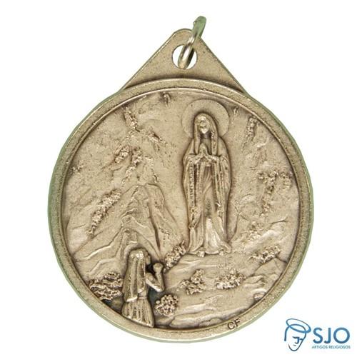 Medalha Redonda Nossa Senhora de Lourdes | SJO Artigos Religiosos