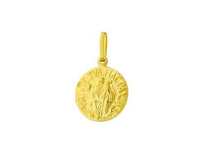 Medalha São Bento Média Ouro Amarelo