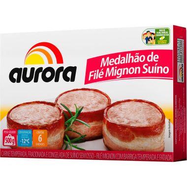 Medalhão Suíno com Bacon Congelado Aurora 500g