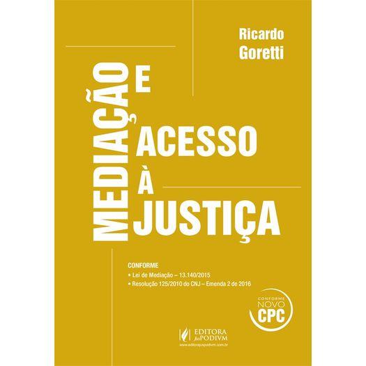 Mediacao e Acesso a Justica - Juspodivm