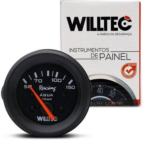 Medidor Analógico Temperatura da Água 150 Graus 12v 52mm Universal Preto Willtec