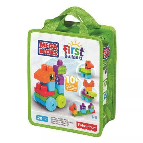 Mega Bloks Mattel First Builders Animais Sacola de 20 Peças