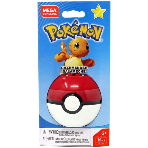 Mega Construx Pokemon Pokeball Charmander - Mattel