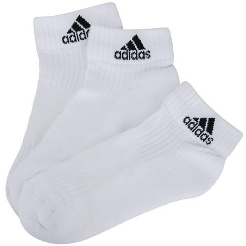 Meia Adidas Ankle Mid Cushion 3 Stripes 3 Pares AA2285