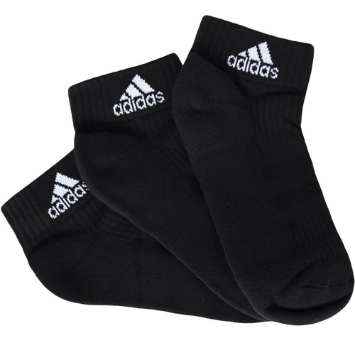 Meia Adidas Ankle Mid Cushion 3 Stripes 3 Pares AA2286