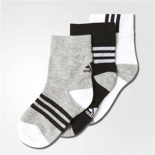 Meia Adidas Ankle Mid Kids 3PPK AB2225