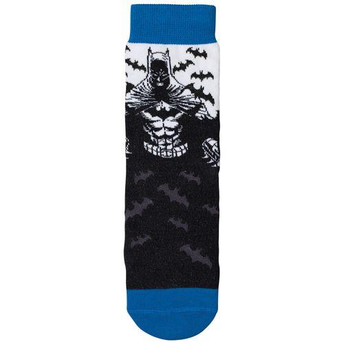 Meia Batman (Adulto) Tamanho: G   Cor: Branco   Calçados: 39 a 44