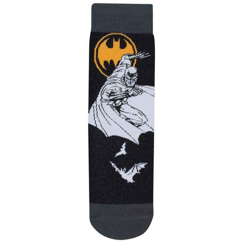 Meia Batman (Adulto) Tamanho: G | Cor: Preta | Calçados: 39 a 44
