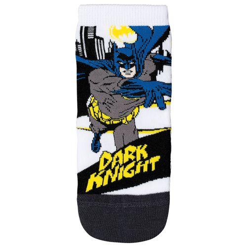 Meia Batman (Infantil) Tamanho: 04 06 | Cor: Branco | Calçados: 28 a 31
