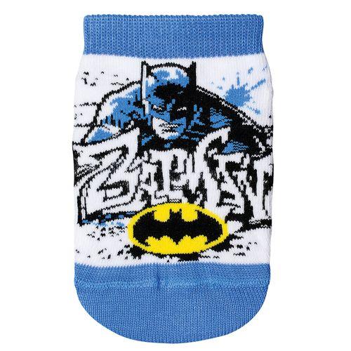 Meia Batman (Infantil) Tamanho: 02 | Cor: Branco | Calçados: 24 a 27