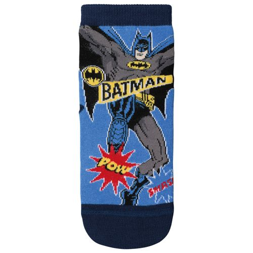 Meia Batman (Infantil) Tamanho: 08 10 | Cor: Azul | Calçados: 32 a 35