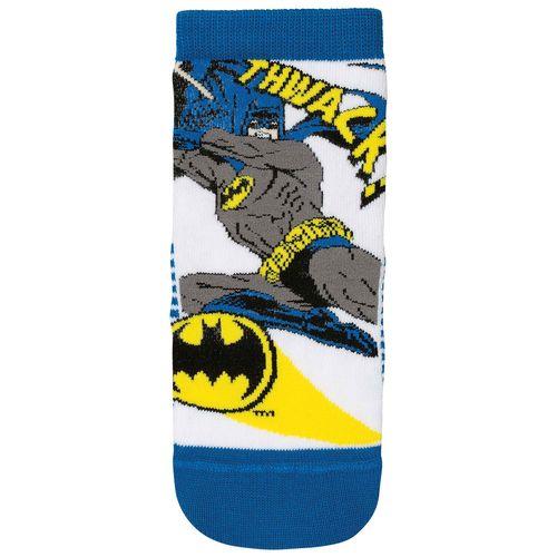 Meia Batman (Infantil) Tamanho: 08 10 | Cor: Branca | Calçados: 32 a 35