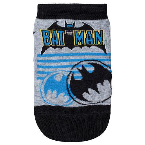 Meia Batman (Infantil) Tamanho: 08 10 | Cor: Mescla Cinza | Calçados: 32 a 35