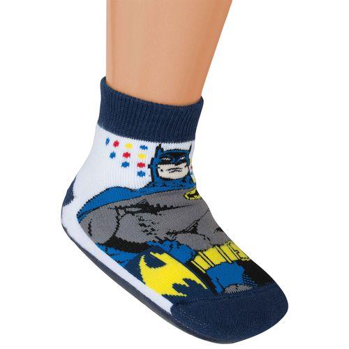 Meia Batman Pantutti (Infantil) Tamanho: 10 | Cor: Branca | Calçados: 34 a 36