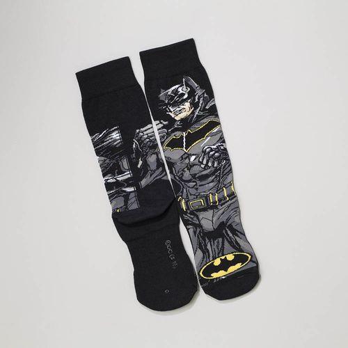Meia Batman Urban (Adulto) Tamanho: M | Cor: Preta | Calçados: 34 a 38