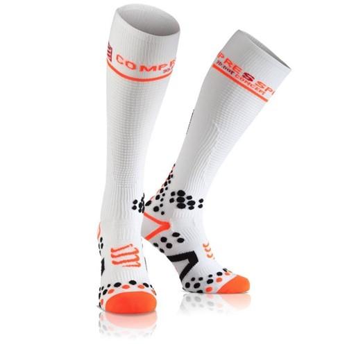 Meia de Compressão Compressport Full Socks V2 Branca 2M