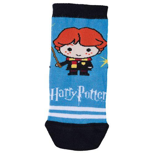 Meia Harry Potter (Infantil) Tamanho: 08 10 | Cor: Azul Piscina | Calçados: 32 a 35