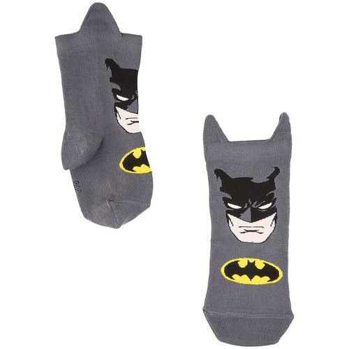 Meia Infantil Batman (Infantil) Tamanho: 04 06 | Cor: Chumbo | Calçados: 28 a 31