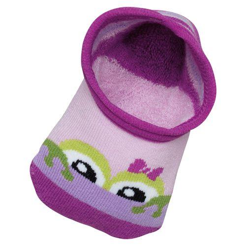 Meia Lupo Antiderrapante + Joelheira Baby (Baby) Tamanho: 010 | Cor: Lilas | Calçados: 20 a 23