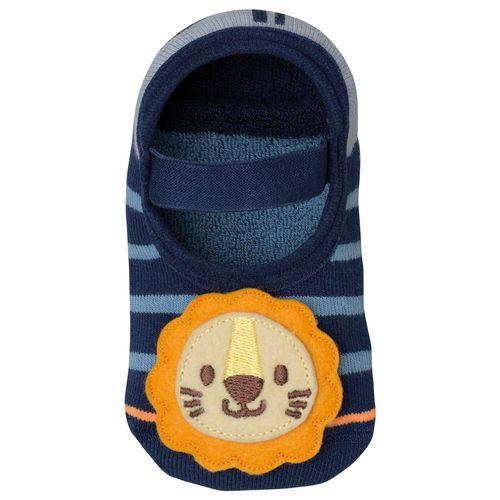 Meia Lupo Sap. Antiderrapante (Infantil) Tamanho: G | Cor: Azul | Calçados: 30 a 35