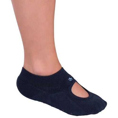 Meia Lupo Sapatilha Pilates (Adulto) Tamanho: G | Cor: Marinho | Calçados: 38 a 41