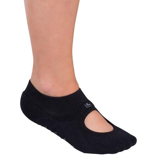 Meia Lupo Sapatilha Pilates (Adulto) Tamanho: G | Cor: Preta | Calçados: 38 a 41