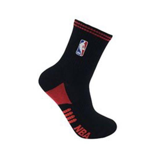 Meia NBA Cano Médio SK15-185 NBA - Preto/vermelho - 39-43