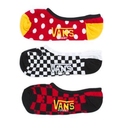 Meia Vans X Mickey'S 90Th (3 Pares) - 33-36