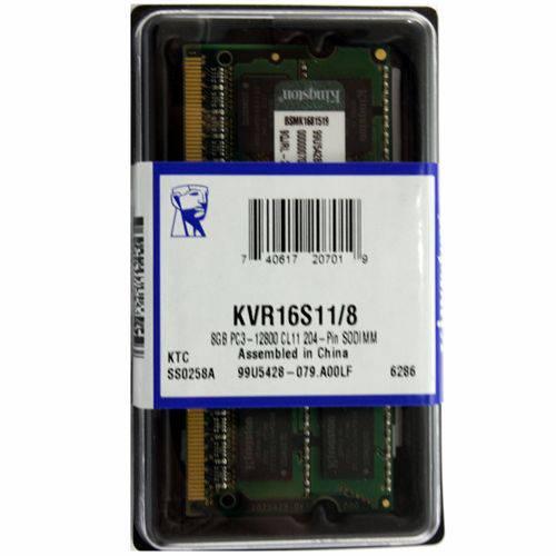 Memoria 8g Ddr3 1600 Mhz Notebook Kvr16s11/8 16cp Kingston