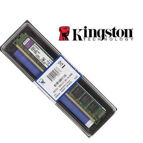 Memoria 8gb Kingston Ddr3 1600mhz Blister Kvr16n11/8