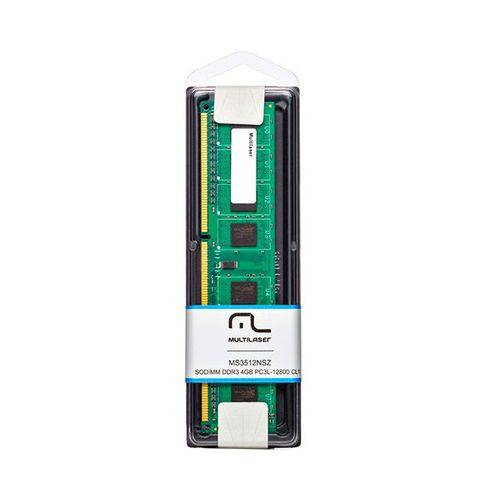 Memória Desktop Multilaser 4gb 1600mhz Ddr3 Cl11 Mm410