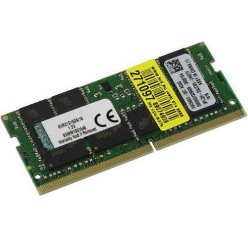Memoria Kingston Notebook 16GB 2133MHz DDR4 Sodimm - Pn # KCP421SD8/16