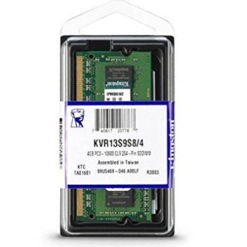 Memoria Nb 4GB Kingston DDR3 1333 1.5V